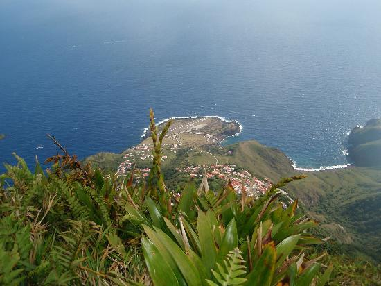 Saba: Top of Mt. Scenery looking over Hell's gate and airport