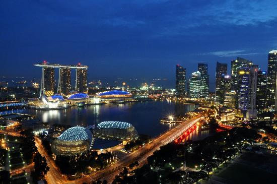 Swissotel The Stamford Singapore: view from room 44th floor