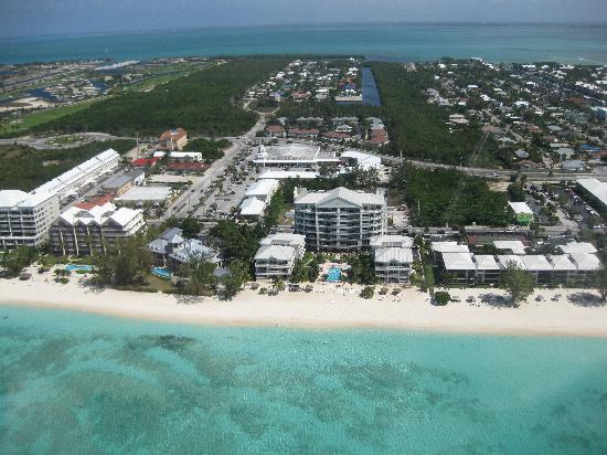 Caribbean Club: View of Hotel from Helicopter tour!