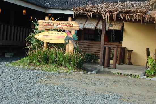 Bahia de Baler Bar & Grill along the shore