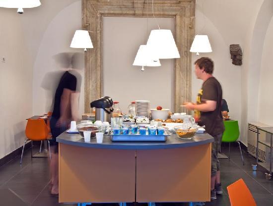 Hotel Piazza Bellini : breakfast room