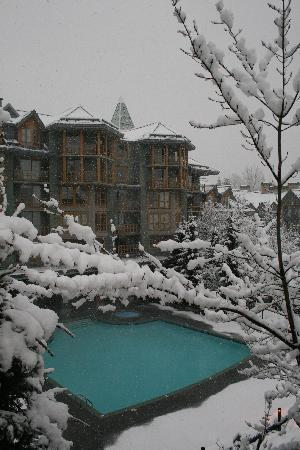"Whistler Cascade Lodge: Pool and hot tubs at Cascade Lodge snow was ""epic""!"