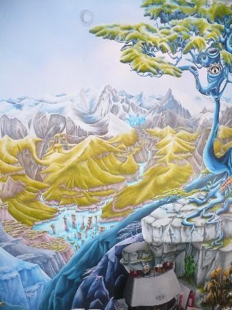 Spa Crystal-Inn B&B Mont Tremblant: mur du salon commun