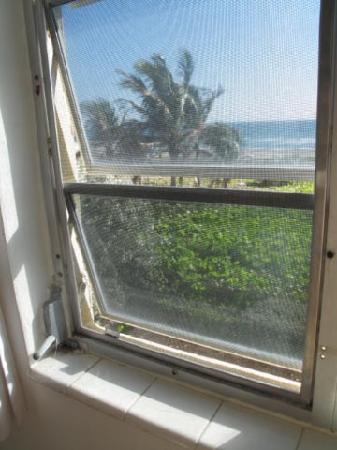 Delray Breakers on the Ocean: Broken window