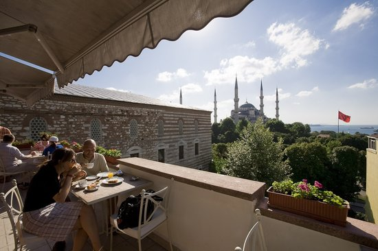 Hotel Turkoman: amazing view from terrace