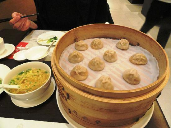 Din Tai Fung (Shanghai New World): pork dumpling with soup