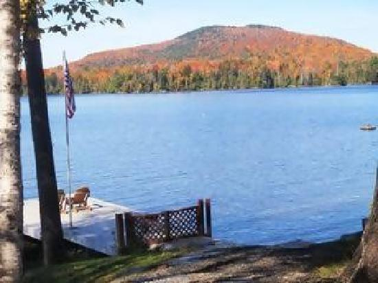 Cozy Moose Lakeside Cabin Rentals: Rare Moosehead Lake Waterfront Access with Scenic Mountain Fall Colors