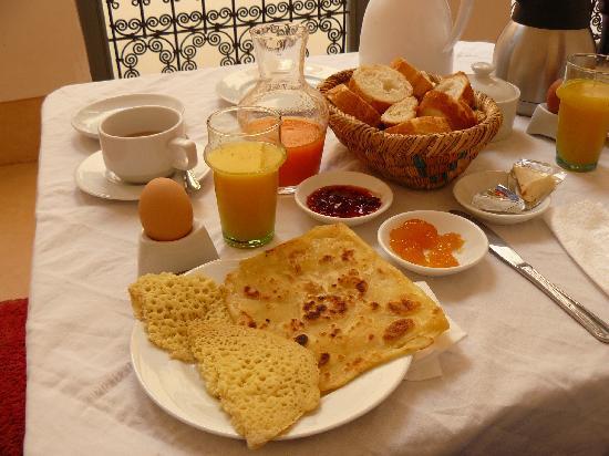 Riad Dar Aicha : desayuno