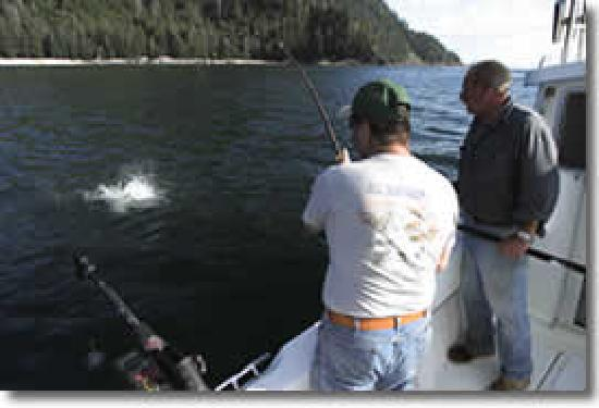 Clover Pass Resort: fishing off boat