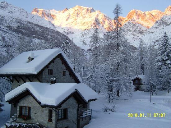 View from Hotel Cristallo of Monte Rosa