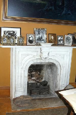 John Muir National Historic Site: Original fireplace from Europe.