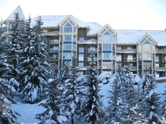 Aspens on Blackcomb: View of next condo from our balcony