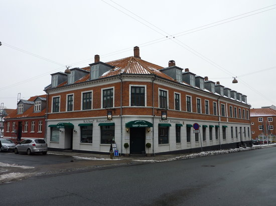 Esbjerg, Denemarken: Sand's seen from the street