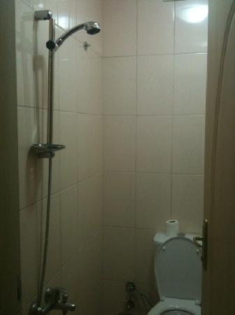 Galata Life Istanbul : Shower over the toilet and get all your belongings wet!