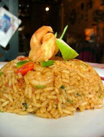 Fried Bananas Restaurant: RICE WITH SHRIMP