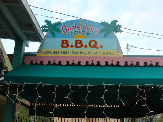 Uncle Joe's Barbecue: Unlce Joe's BBQ sign