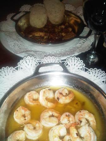 Oh Madrid : Camarones Pipil y Calamares