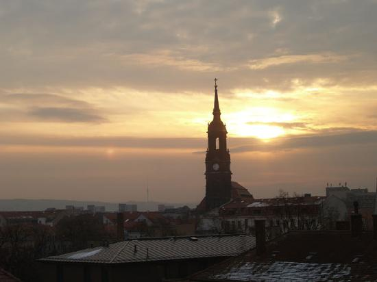 Gaestehaus Stadt Metz: morgendlicher Ausblick Schlafzimmer