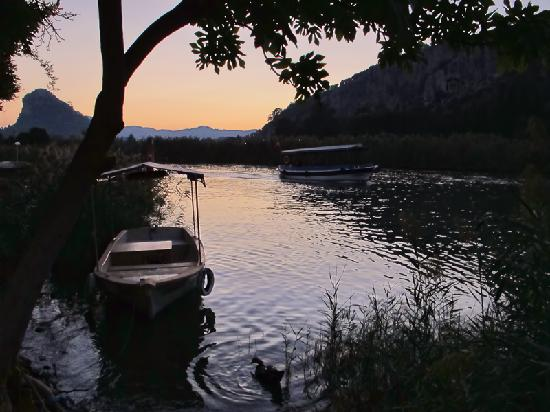 Club Alla Turca: Sunset over Dalyan river