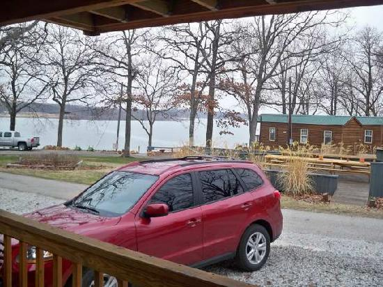 Lee's Grand Lake Resort: view from our front door