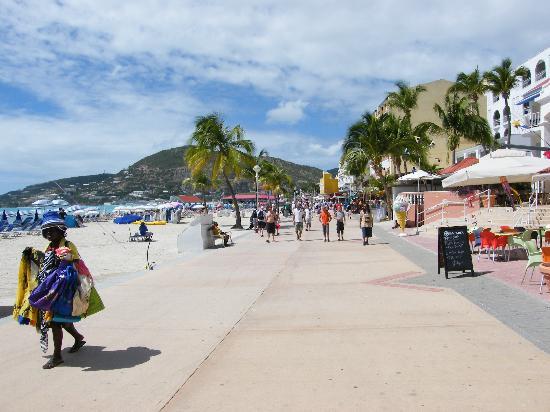 Boardwalk Amp Beach At Philipsburg Picture Of St Maarten