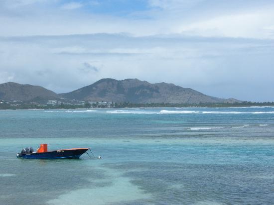 St Martin / St Maarten: Boat at rest, north coast