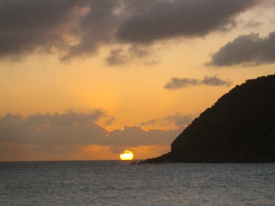 St Martin / St Maarten: Sunset on Little Bay