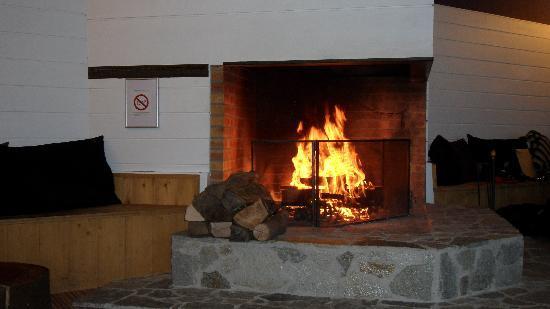 Hotel les Bruyeres : La cheminée