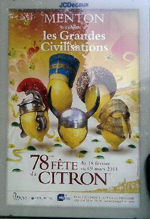 Menton, France : locandina dell'evento