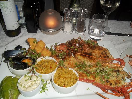 The Bay Hotel: One of our meals at the Tides Restaurant