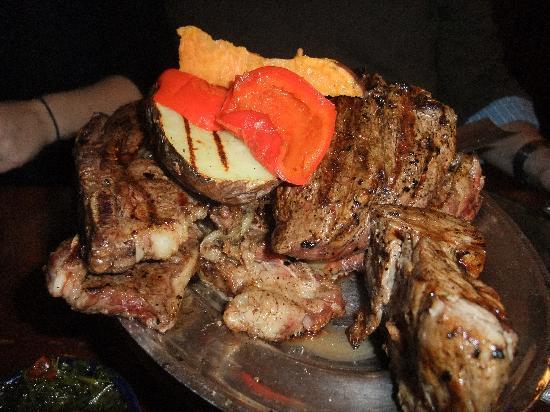 El Gaucho: sample meat entree