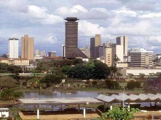 View of Nairobi at Uhuru Public Park