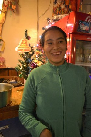 Lhasa Restaurant: Sharing joys wiht Guest and Friends(Restaurant Owner) Name:Yangzom