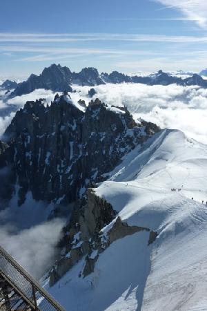 Chamonix, Fransa: Alpes vue de l'Aiguille du Midi