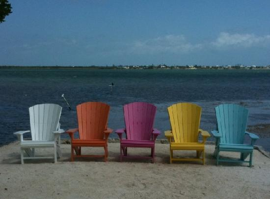Parmer's Resort: colorful aderondack chairs