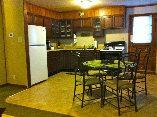 The Westside Guest House: The Eastview has a spacious kitchen, open floor plan.