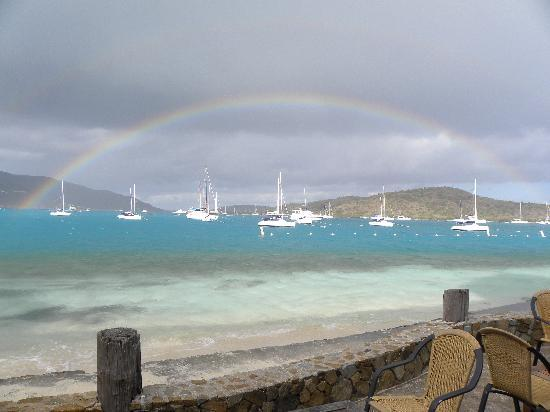 Bitter End Yacht Club: rainbow at breakfast