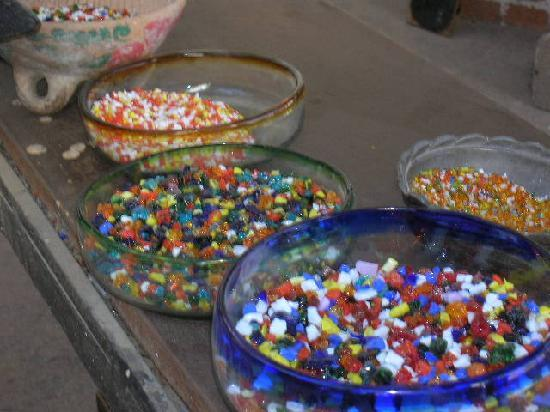 The Glass Factory : Colorful Glass Shards