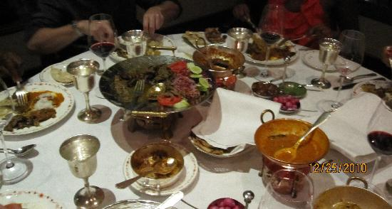 Rang Mahal Restaurant : Our Christmas Dinner Spread