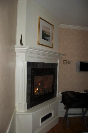 Kennebunkport, ME: Fireplace in our room