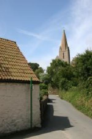 La Bellieuse Self Catering Cottages : La Bellieuse looking toward St. Martins Parish Church
