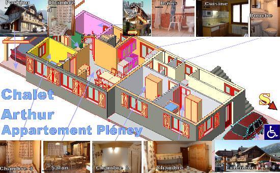 Chalet Arthur : Map apartment Pleney