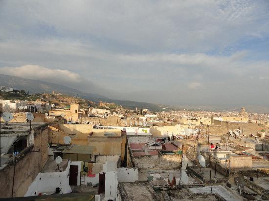 Dar Bouanania: Vistas desde la terraza de arriba.