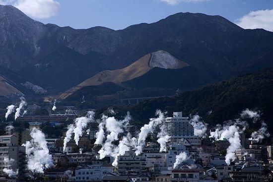 Beppu, Japan: 別府:湯けむり展望台から湯けむり