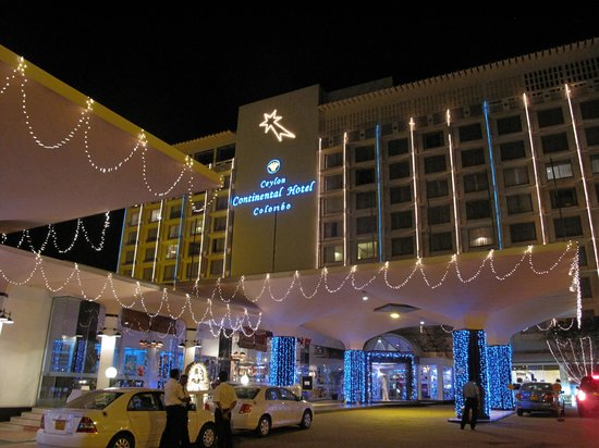 hotel lit up at night over new year picture of the kingsbury colombo tripadvisor. Black Bedroom Furniture Sets. Home Design Ideas