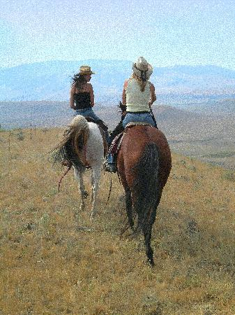 Bonanza Creek Guest Ranch: riding to the mountains