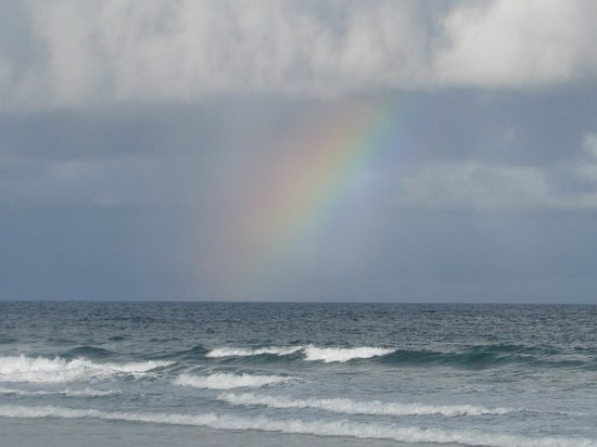 Aldeia da Mata Eco-Lodge : Rainbow after the rain