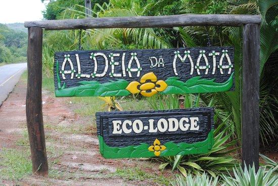 Aldeia da Mata Eco-Lodge : Entrance to lodge