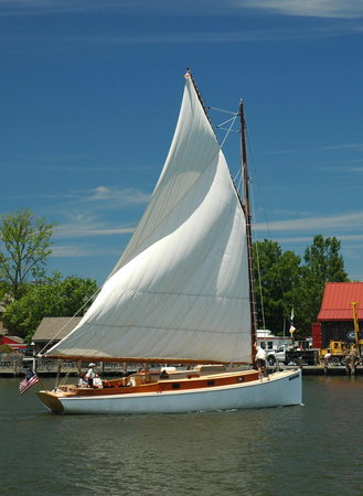 St. Michaels, MD: Selina II in St Michaels harbor