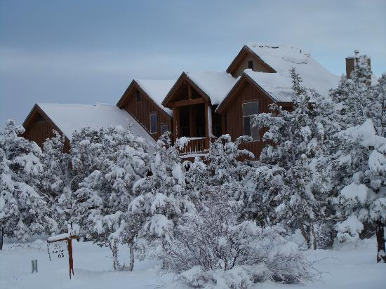 Zion Ponderosa Ranch Resort: Our home away from home in a blanket of snow